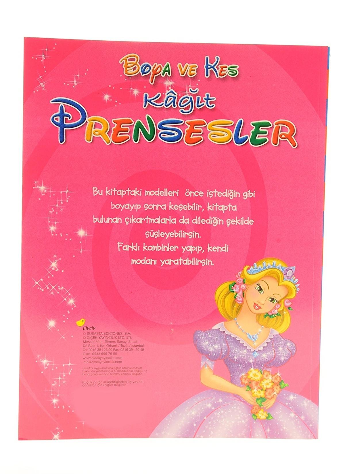 Cicek Yayincilik Standart Boya Ve Kes Kagit Prensesler Renkli